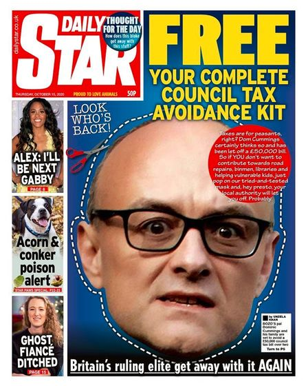 Front page of Daily Star