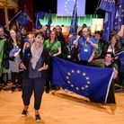 Caroline Lucas joins Green Party delegates and local anti-Brexit groups as they come together to hold an anti-Brexit rally