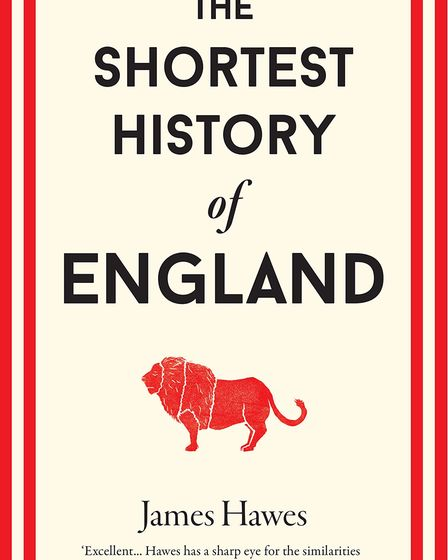 Book cover for Shortest History of England by James Hawes