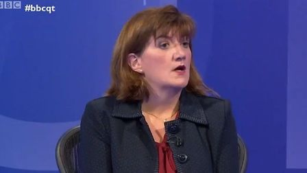 Nicky Morgan on Question Time