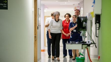 Prime Minister Theresa May visiting the wards at Alder Hey Children's Hospital, Liverpool. Photograp