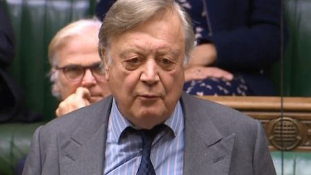 Ken Clarke in the House of Commons. Photograph: Parliament TV.