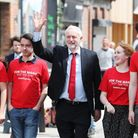 Labour leader Jeremy Corbyn with supporters during the last general election campaigning in Hull. Ph