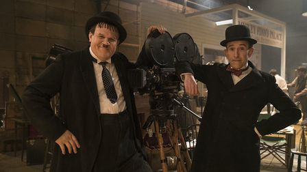 Steve Coogan, right, and John C. Reilly in Stan and Ollie. Picture: Aimee Spinks