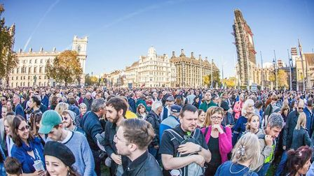 The People's Vote March in London. Photograph: Twitter/Left of London.