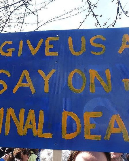 Call for a People's Vote on final Brexit deal. Picture: Mike Brooke