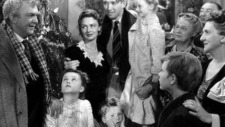It's A Wonderful Life starred James Stewart and Donna Reed. Picture: Contributed