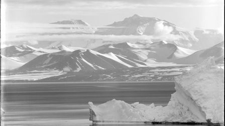 Mount Lister in the Royal Society Range, as seen from the Ross Dependency of Antarctica, during Capt
