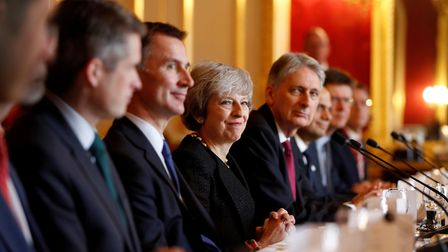 Jeremy Hunt pictured next to Theresa May in cabinet. Photograph: Adrian Dennis/PA