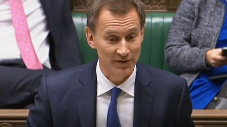 Jeremy Hunt discusses Lassie in the House of Commons. Photograph: Parliament TV.