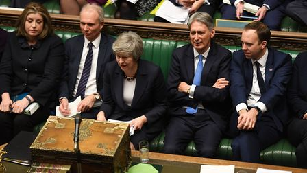 Theresa May in the House of Commons. Photograph: UK Parliament/Jessica Taylor/PA Wire .