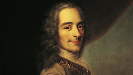 Portrait of Voltaire (Paris 1694-1778), pseudonym of Francois Marie Arouet, French writer and philos