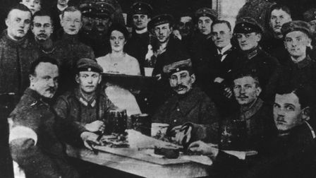 16th January 1919: The murderers of Spartacist leader Karl Liebknecht photographed the day followin