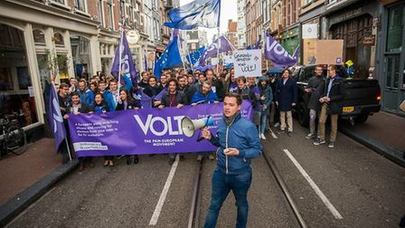 VOLT - the new pan-European political party - is running in UK and European elections. Photograph: V