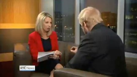Boris Johnson resorts to talking about CHEESE in answer to question on Irish backstop. Photograph: R