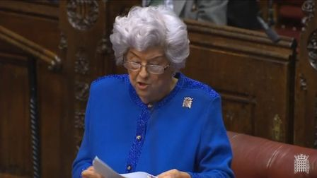 Baroness Boothroyd supports a People's Vote in the House of Lords. Photograph: Parliament TV.