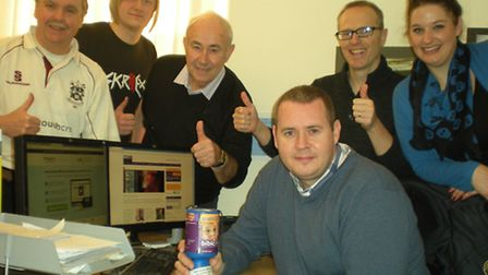 James White, centre with members of the intouchcrm team
