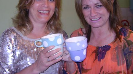 Jessica Cornes (left) and Julie Evans who provide mature mums to help growing families