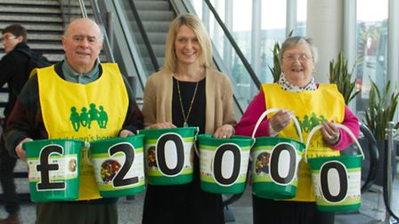 Fundraisers Gary and Denise Gooding with Zoe Mason from CHSW (centre)