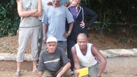 Olly (left) with some of the team he worked with in Madagascar