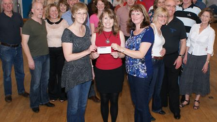 Members of Portishead LeRoc raised £1,400 for Children's Hospice South West