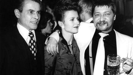 Rainer Werner Fassbinder with Hanna Chyllga in 1979. (Photo by Lehnartz/ullstein bild via Getty Imag