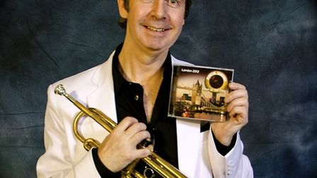 Martin Sanders with his new jazz CD.