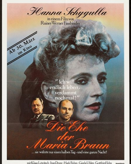The Marriage of Maria Braun poster.