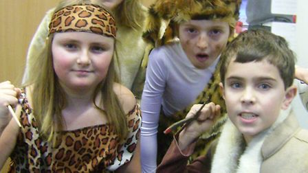 Children from St Peter's School in fancy dress to mark the start of their new topics.