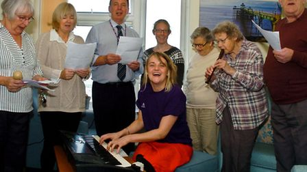 People from Anchor as well as residents recording a charity single.