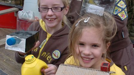 Brownies enjoying the sale to raise fund for Uganda Water Project.