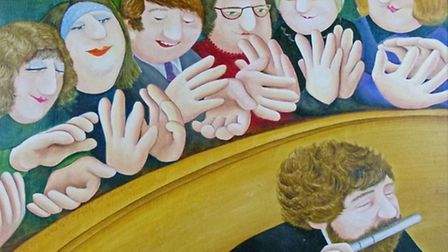 Applause by Beryl Cook