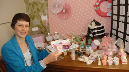 Felicity Phillips who has just started her own business making wedding invites.