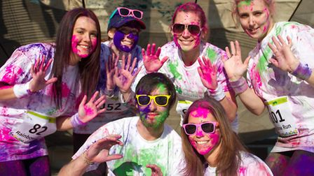 Runners will be covered in bright paints during the event