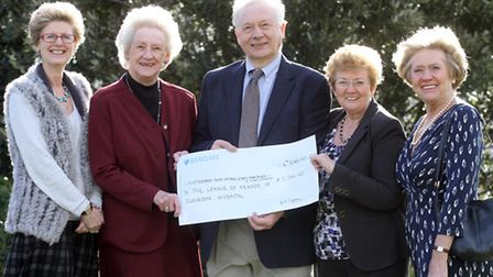John Powell was presented with the cheque at The Hawthorns. Picture by Thousand Word Media.