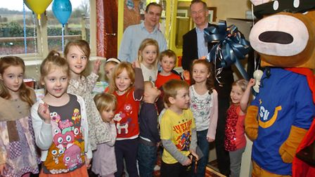 Westons MP John Penrose with children official opening the new Play area.