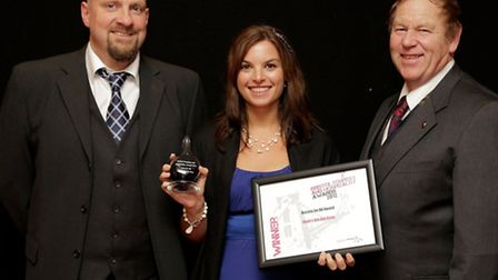 Dav Bennet, Sammi Luxa and Barry Baker from Noah's Ark Zoo Farm with the Access for All award.