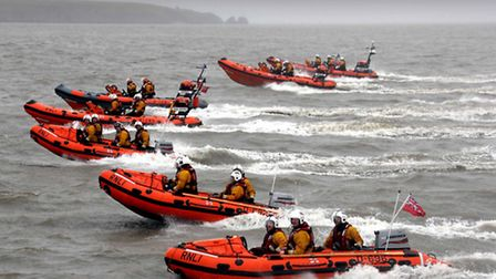 Portishead's lifeboat crew was one of seven which took part in the exercise. Pic: Nicholas Leach