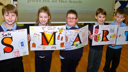 Year two children who put on a presentation to parents about E-safety.