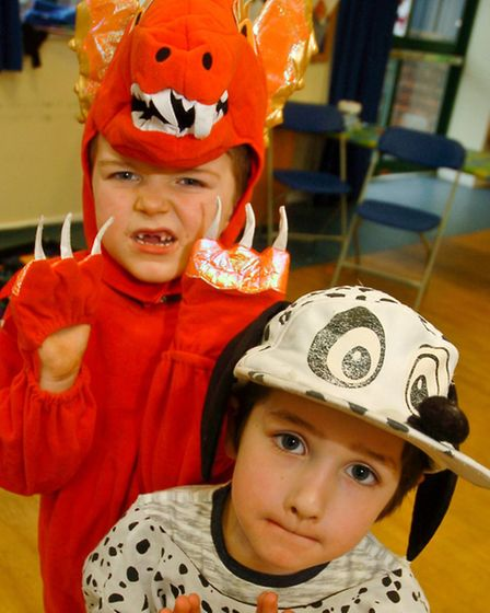 Children enjoying the holiday club Chinese New Year activities with William and Harry.