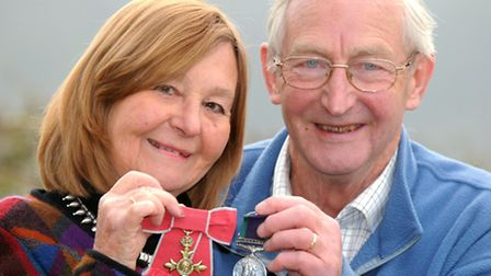 Chris and Maggie Paish from Backwell with their medals which were stolen and then returned by police