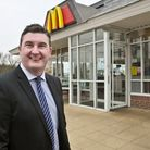 Tim Lamb at the McDonalds he has just taken over by the Marchfields, Hurluin Way, Winterstoke Road r