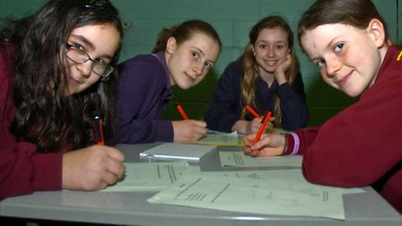 North Somerset schools teams taaking part in Maths challenge, Churchill school.