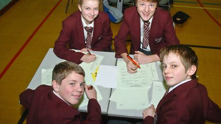 North Somerset schools teams taaking part in Maths challenge, St Katherine school.