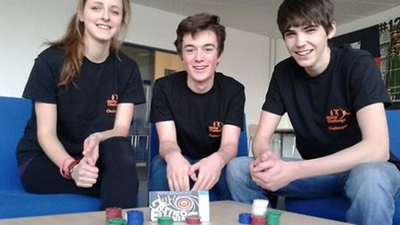 Brendan Tarr, Oliver Presland and Jess Atkinson are putting on a casino night to raise money for a w