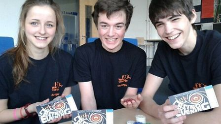 Brendan Tarr, Oliver Presland and Jess Atkinson are holding a casino night to raise money for a trip
