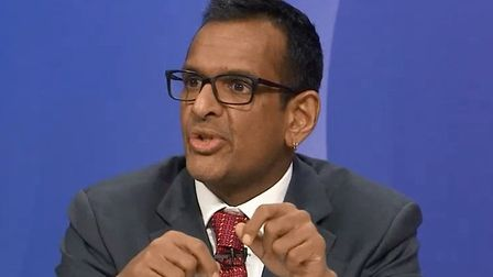 EU expert Anand Menon praised by Question Time viewers. Photograph: BBC.
