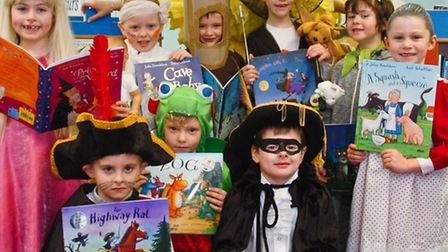 Children dressed up as characters from the Gruffalo.