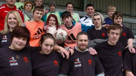 Princes Trust holding football sessions with Weston football club.