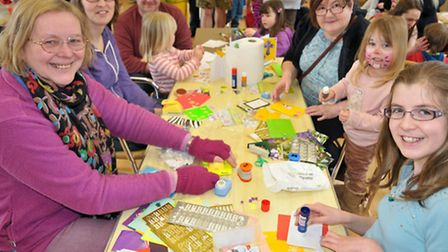 Easter crafts at St Barnabas Centre, Portishead.